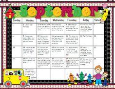 Pre-K Homework Calendars