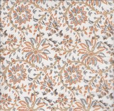Organic Cotton Floral Print Indian Cotton Peach by EcoFabricStore, $11.99    Giveaway! - Eco Fabric Store
