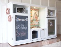Play Kitchen From Entertainment Center | For additional photos & details be sure to check out the original post ...