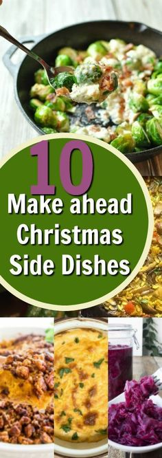These Christmas side dishes are easy to make and save time. All of these recipes can be made ahead so you can focus on family time this holiday season! ahead side dishes for christmas food recipes Side Dishes For Ham, Side Dish Recipes, Christmas Vegetable Dishes, Vegetables For Christmas Dinner, Dinner Vegetables, Veggies, Christmas Dinner Side Dishes, Dinner Dishes, Le Diner