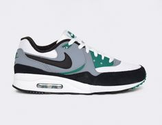 #Nike Air Max Light - White/Grey/Green #sneakers