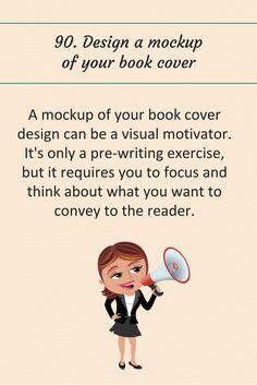 90: Design a mockup of your book cover.