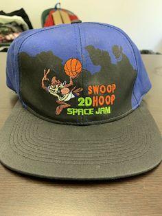 d5668dcca4628b Details about Vintage Deadstock 1996 Space Jam Snapback Hat Michael Jordan  NBA Looney Tunes