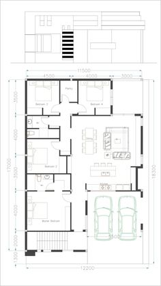 Home Design Drawings One Story House Plan Sketchup Home Design - SamPhoas Plansearch - One Story House Plan Sketchup Home Design. This villa is modeling by SAM-ARCHITECT With 1 stories level. It's has 4 bedrooms. One Story House Plan 4 Bedroom House Designs, 4 Bedroom House Plans, My House Plans, Duplex House Plans, Bungalow House Design, Modern House Design, Villa Design, 1 Story House, One Story Homes