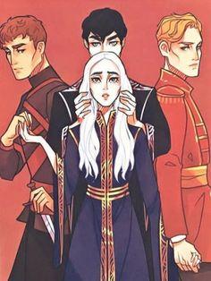 Mal, The Darkling, Nikolai, & Alina Fanart, Character Inspiration, Character Art, The Darkling, Alina Starkov, Comic Manga, The Grisha Trilogy, Six Of Crows, Dibujos Cute