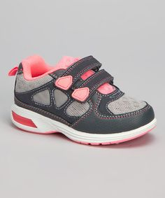 Another great find on #zulily! Gray & Pink Light-Up Ares Sneaker by Carter's #zulilyfinds