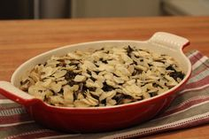 Wild rice and mushroom casserole: Thanksgiving recipe #food #meal #sides