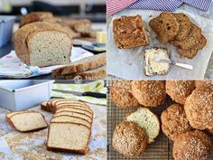 Ultimate keto bread, Fluffy grain-free sunflower bread, Low-carb sourdough bread, Ultimate keto buns (recipes from KetoDiet apps)