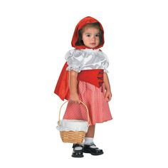 Baby Girls Little Red Riding Hood Costume - Large