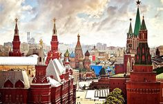 Enjoy this tour, and drive or walk through Moscow's beautiful streets and famous squares. Stroll around Red Square as your guide explains its amazing buildings and Moscow's history as a focal point of so many of great events. See the world's m Place Rouge, Visit Russia, Sites Touristiques, Best Hotel Deals, Amazing Buildings, Teaching English, Travel Essentials, Beautiful Places, Beautiful Streets