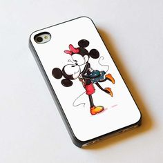 iphone case Mickey And Minnie Mouse Kissing iphone 4/4s case, iphone 5 case, samsung galaxy s2, s3, s4 case, cover plastic on Etsy, $15.99