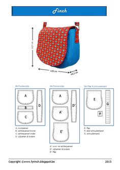 Finch.pdf (gratis patroon)  patron en taille réèlle - bags, gym, school, cool, for teens, hermes bag *ad