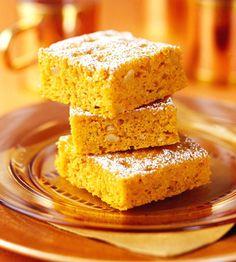 Carrot-Pumpkin Bars | Diabetic Brownies & Bars