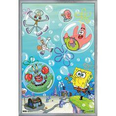 Spongebob - Bubbles Size: 24.25 inch x 35.75 inch