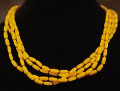 Yellow-Orange Rope Necklace by GenusJewels on Etsy