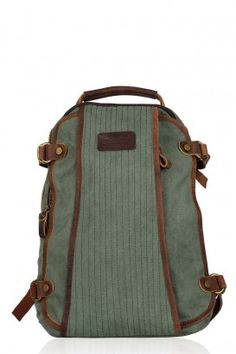 e537a33c77ba Canvas Genuine Leather Nomad Backpack College Bags