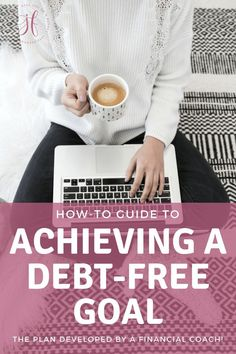 Ready to be debt-free? Want to make this the year you pay off all that debt? The key to achieving a debt-free goal is to plan and execute that plan. Don't be overwhelmed! This post has you covered with a detailed plan developed by a financial coach! Ways To Save Money, Money Saving Tips, Money Tips, Loan Forgiveness, Debt Payoff, Student Loans, Debt Free, Finance Tips, Money Management