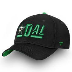 70426428d39 Men s Dallas Stars Fanatics Branded Black Kelly Green Authentic Pro  Rinkside Alpha Adjustable Hat