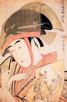 La danza del gorrión de Yoshiwara (1791) Utamaro