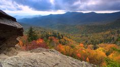 """Enjoy a view of our Autumn . Scenic Time Lapse of Fall Foliage & Incredible Mountain Views in Asheville, the Blue Ridge Parkway and the surrounding region of North Carolina. Video from Explore Asheville/Music - """"Miles of Skyline"""" by Uncle Mountain. Western North Carolina, North Carolina Homes, Blue Ridge Parkway, Blue Ridge Mountains, Asheville Nc Real Estate, Mountain City, Beautiful Places, Scenery, Places To Visit"""