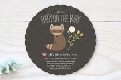 Baby on the Way Baby Shower Invitations by Griffinbell Paper Co. at minted.com