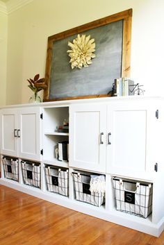 How to build a combination storage cabinet