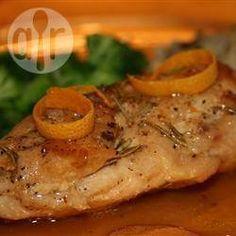 Kip met rozemarijn en sinaasappelglazuur