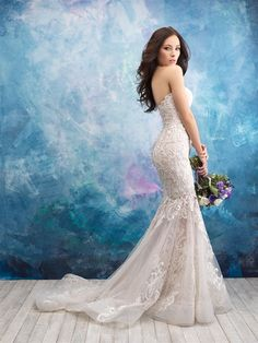 Baley's Bridal offers gorgeous Allure wedding dresses at great prices. This extensive selection of plus size bridal gowns and wedding dresses at Blossoms Bridal will have your full figure looking stunning for the big day! Wedding Gown Images, Wedding Dress Pictures, Designer Wedding Gowns, Perfect Wedding Dress, Bridal Wedding Dresses, Bridesmaid Dresses, Lace Wedding, Bridal Gown Styles, Marie
