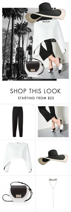 """""""black n white style"""" by kkornak ❤ liked on Polyvore featuring Alexander McQueen, Balmain and Joanna Maxham"""