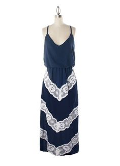 Charming chevron in lace.  Southern Spring / Summer maxi dress with racerback.