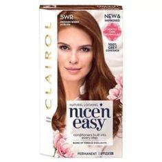 Clairol Nice 'n Easy Hair Color, Medium Warm Auburn, Brown Easy Hairstyles For Medium Hair, Unique Hairstyles, Medium Hair Styles, Permanent Hair Color, Temporary Hair Color, Hair Care, Auburn Brown, Dark Brown, Warm