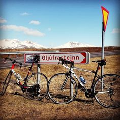 Gran Fondo today. The weather started out great but after 115 km the temperature was 0 and my toes frozen. But still great fun.  #cycling #iceland #outsideisfree #GranFondo #cubeyourlife #Gljúfrasteinn