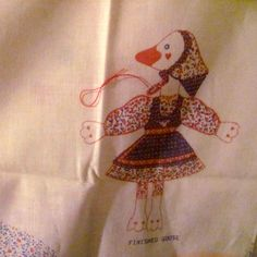 Vintage Gertrude The Goose Fabric Doll Panel by NewAgain on Etsy