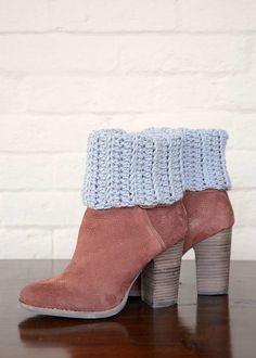 Cozy Knit Look Boot Cuffs