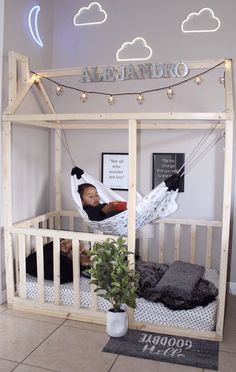 9 DIY Toddler Bed Ideas - Guide to choose the right toddler bed plans Keep reading to find out more about getting the right timing and the more ideas about the right toddler bed ideas suits your needs. Baby Bedroom, Baby Boy Rooms, Baby Room Decor, Room Decor Bedroom, Girls Bedroom, Diy Toddler Bed, Toddler Beds For Boys, Ikea Toddler Room, Boy Toddler Bedroom