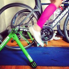 bike // power test two - sweet sweat life #sweetsweatlife #triathlon #argon18 #power #quarq #kinetictrainer #bike