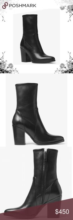 """Michael Kors 'Eloise' Mid Calf Boot Designed to hit at mid-calf, these modern boots are masterfully crafted in Italy from suede and fitted with a stacked block heel. A wardrobe staple, they'll flatter culottes, midi skirts and more. 100% Leather. Side Zip Fastening. Heel Height: 3.15"""". Stacked Heel. Brand new in box! Bundle for discounts! Thank you for shopping my closet! Michael Kors Shoes Heeled Boots"""