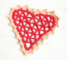 Crochet Heart Doily Free Pattern DIY