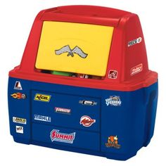 Speedway Storage Chest, Love this! Sawyer needs this for all his cars lol