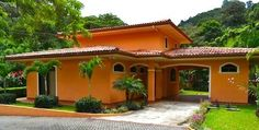 The guest house is private and surrounded by lush tropical gardens.