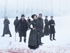 Cast of Penny Dreadful:  Rory Kinner is The Creature (John Clare), Danny Sapani is Sembene, Timothy Daltons is Sir Malcolm Murray, Reeve Carney is Dorian Gray, Eva Green is Miss Vanessa Ives,  Josh Hartnett is Ethan Chandler, Helen McGrory is Evelyn Poole, Harry Treadaway is Dr. Victor Frankenstein.