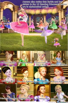 I watch Barbie movies with my little sister. Anyone else realise that the twins Hadley and Isla also share their names with Hadley and Isla in Barbie Princess Charm School? Childhood Movies, My Childhood, Disney And Dreamworks, Disney Pixar, Princess Meme, Barbie 12 Dancing Princesses, Barbie And Her Sisters, Right In The Childhood, Haha