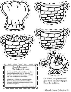 The cupbearer and the baker | Joseph Interprets The Baker's Dream Cutout Sheet