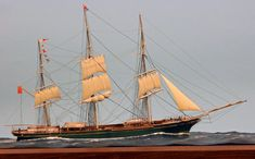 """Tea Clipper THERMOPYLAE of 1868 at Scale:16'= 1"""" and approximately 18 1/2"""" Length modeled by Lloyd McCaffery and at the J. Russell Jinishian Gallery, Inc."""