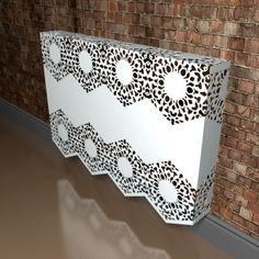 Manchester Lace Fancy Wall mounted Radiator cover by Couture Cases