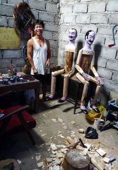 Doll Woodcarving in Wonosobo, Central Java, Indonesia