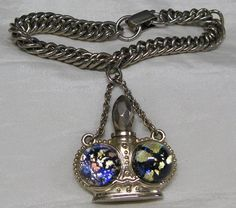 Vintage Perfume Charm Bracelet Fashion Jewelry