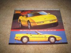 1986 Chevrolet Corvette Indy 500 pace car sales brochure dealer sheet literature