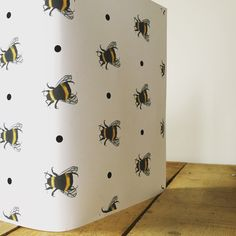 Bee / Pizza / Giraffe Gift Wrapping Paper by Katezart Designs / The Manchester Bee Company