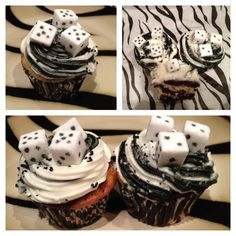 Bunco Cupcakes - going to a Bunco game night in a few weeks, think I'm gonna attempt these :)
